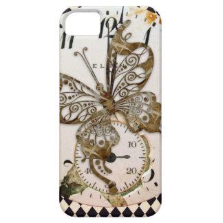 Mariposa de Steampunk redonda iPhone 5 Carcasa