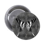 Mariposa de Swallowtail de la cebra de Tennessee Pin Redondo 5 Cm