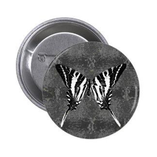 Mariposa de Swallowtail de la cebra de Tennessee Pin Redondo De 2 Pulgadas