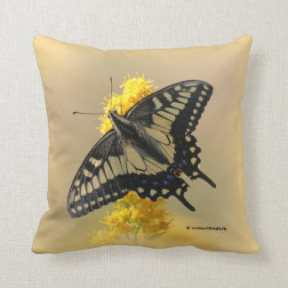 Mariposa de Swallowtail del anís en el Sun Cojín Decorativo