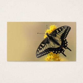 Mariposa de Swallowtail del anís en el Sun Tarjeta De Negocios