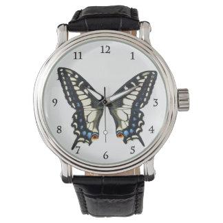 Mariposa de Swallowtail del anís Relojes De Mano