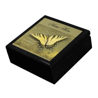 Mariposa de Swallowtail del tigre - glaucus de Pap Joyero Cuadrado Grande