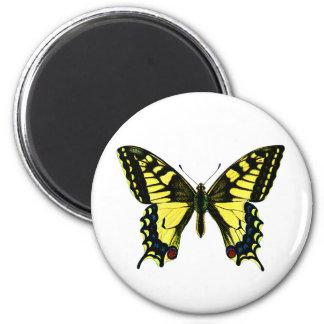 Mariposa de Swallowtail Imán Redondo 5 Cm