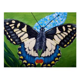 Mariposa de Swallowtail - pintura de acrílico Tarjeta Postal