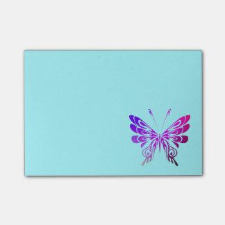 Mariposa decorativa multicolora bonita post-it® nota