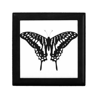 Mariposa decorativa negra cajas de joyas