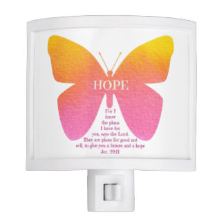 Mariposa del 29:11 de Jeremiah de la luz de la Luces De Noche