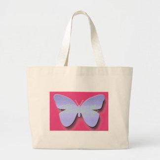 Mariposa del alboroto bolsa tela grande