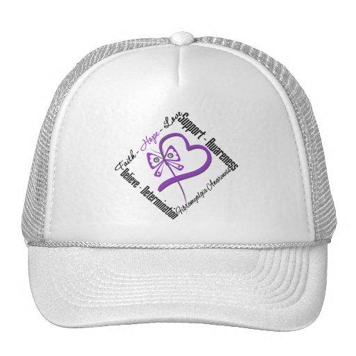 Mariposa del amor de la esperanza de la fe - conci gorra