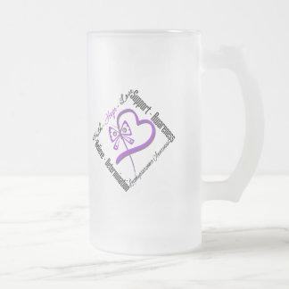 Mariposa del amor de la esperanza de la fe de Leio Taza De Café
