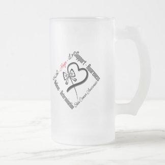 Mariposa del amor de la esperanza de la fe del cán taza