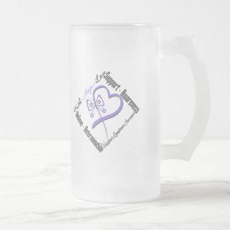 Mariposa del amor de la esperanza de la fe del lin taza de café