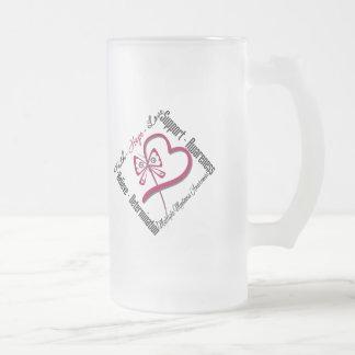 Mariposa del amor de la esperanza de la fe del mie tazas