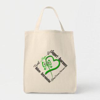 Mariposa del amor de la esperanza de la fe - enfer bolsa tela para la compra