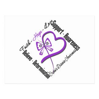 Mariposa del amor de la esperanza de la fe - enfer tarjeta postal