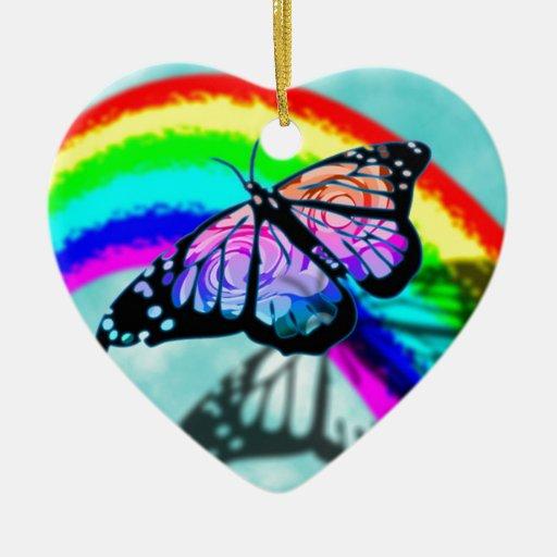 Mariposa del arco iris adorno