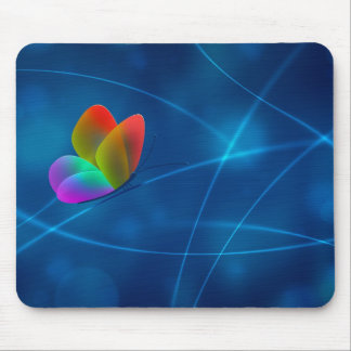 Mariposa del arco iris alfombrilla de ratones