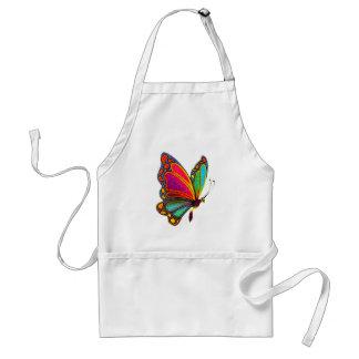Mariposa del arco iris delantal