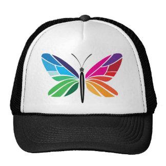 Mariposa del arco iris gorras