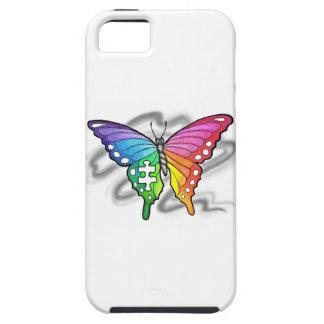 Mariposa del arco iris iPhone 5 cárcasa