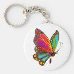 Mariposa del arco iris llaveros personalizados