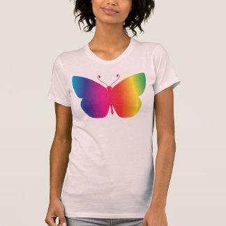Mariposa del arco iris camisetas