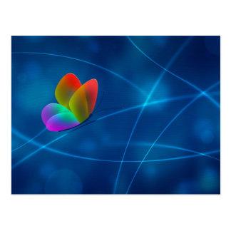 Mariposa del arco iris postales
