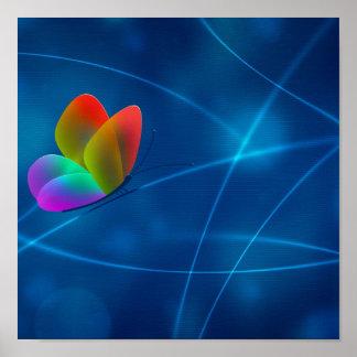 Mariposa del arco iris póster