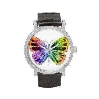 Mariposa del arco iris relojes de mano