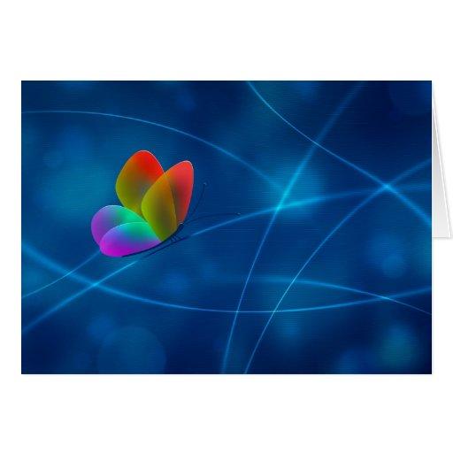 Mariposa del arco iris tarjeta