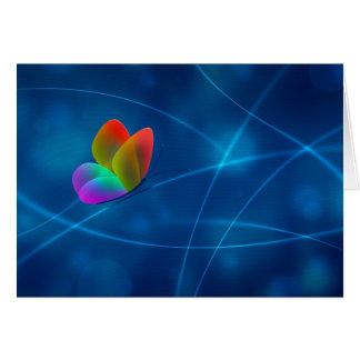 Mariposa del arco iris tarjeta de felicitación