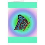 Mariposa del arco iris tarjetas