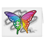 Mariposa del arco iris tarjeton