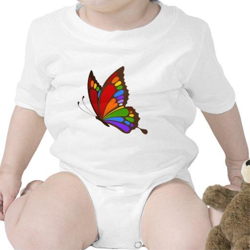 Mariposa del arco iris trajes de bebé