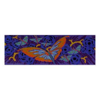 Mariposa del art déco - señal tarjetas de visita