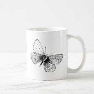 Mariposa del arte pop taza