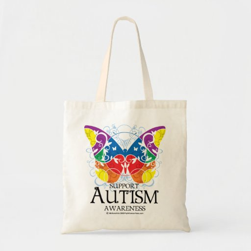 Mariposa del autismo bolsa