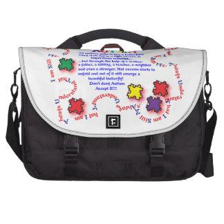 Mariposa del autismo bolsas de portatil