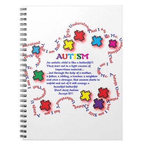 Mariposa del autismo cuaderno