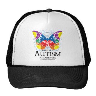 Mariposa del autismo gorras de camionero