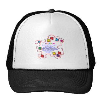 Mariposa del autismo gorras