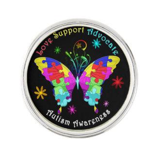 Mariposa del autismo pin