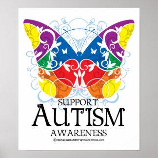 Mariposa del autismo póster