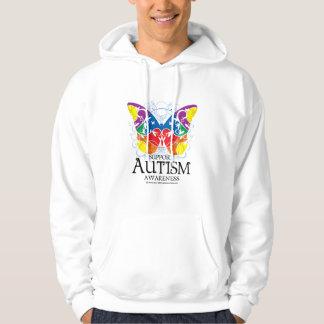 Mariposa del autismo sudadera