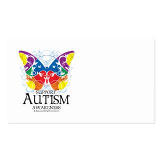 Mariposa del autismo tarjetas de visita