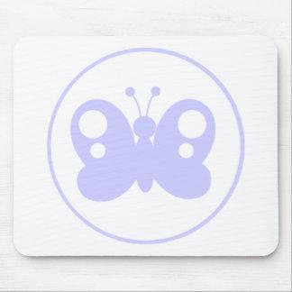 Mariposa del azul de la lavanda alfombrilla de ratón