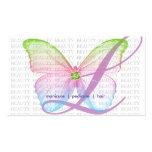 Mariposa del azul del rosa del verde de la tarjeta