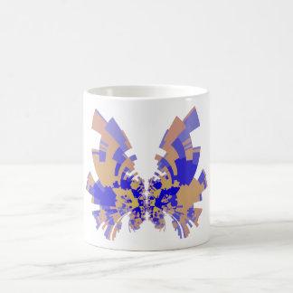 mariposa del azul-naranja taza de café