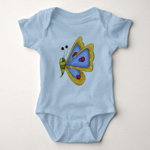 Mariposa del bebé playeras
